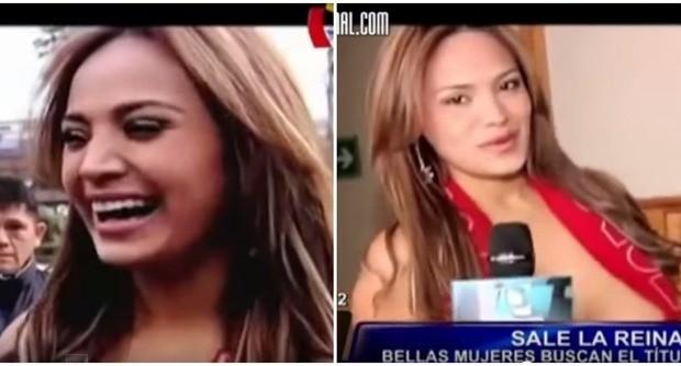Il Perù vince, lei mantiene la promessa: la reginetta si spoglia nuda in tv