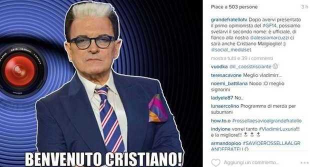 Grande Fratello 14, Cristiano Malgioglio opinionista accanto a Claudio Amendola