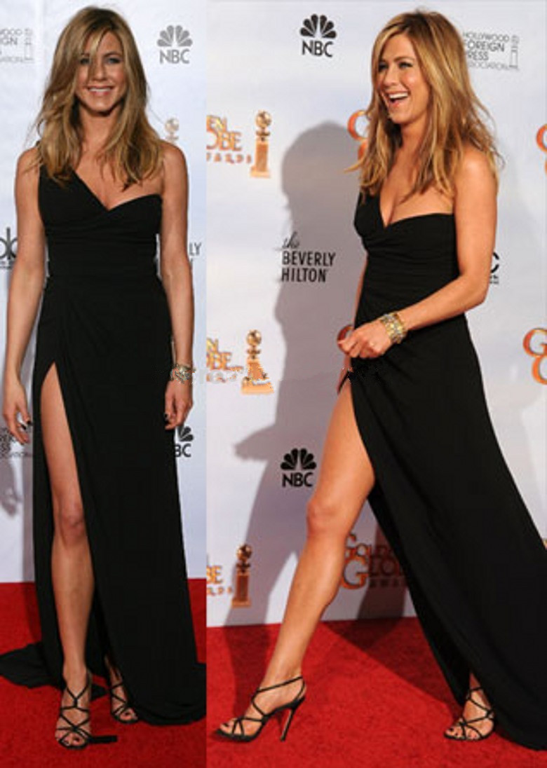 Sexy-One-Shoulder-Backless-Slit-Style-Black-Chiffon-Celebrity-Dress-font-b-Jennifer-b-font-font